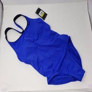 Blue/Black One-piece Bathing Suit